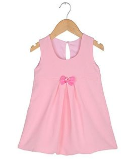 Tia'S Closet Polka Dotted Bow Dress - Pink