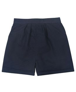 Tia'S Closet Trendy Shorts With Minimal Thread Work - Navy Blue