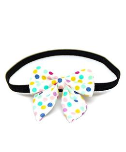 Pigtails and Ponys Disco Polka Sailor Bow Headband - Multicolor