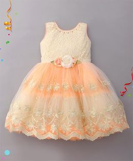 Eiora Beautiful Partywear Dress - Peach