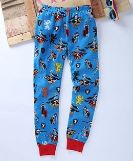 Eimoie Soldier Print Track Pant - Blue & Red