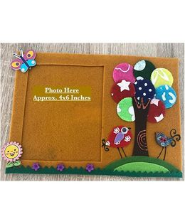 Kalacaree Wish Tree Theme Magnetic Photo Frame - Golden Yellow