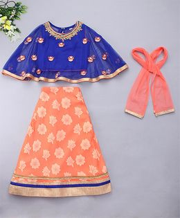 Adores Cape Style Traditional Wear - Orange