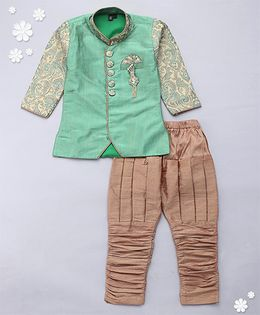 Adores Kurta & Chudidar With Embriodery - Green
