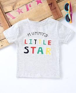 Tonyboy Mummy'S Little Star Print T-Shirt - Grey