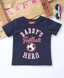 Tonyboy Daddy'S Football Hero Printed T-Shirt - Navy Blue