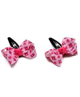 Ribbon Candy Floral Print Tic Tac Pin Pack Of 2 - Pink