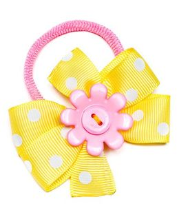 Ribbon Candy Cute Hair Tie - Yellow & Pink