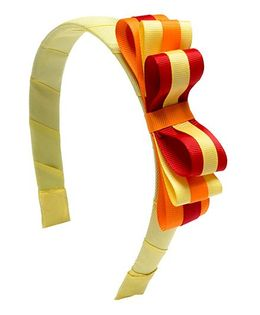 Ribbon Candy Stylish Loopy Hairband - Yellow & Red