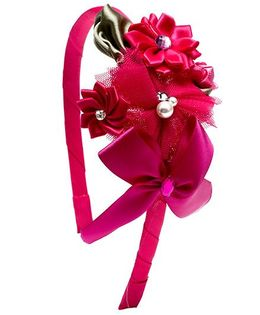 Ribbon Candy Bouquet Hairband - Pink