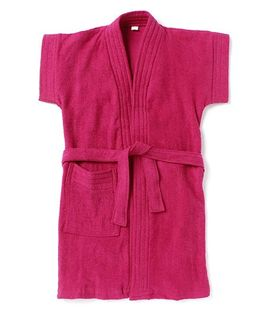 Pebbles Half Sleeves Bathrobe - Dark Pink