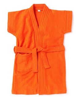 Pebbles Half Sleeves Bathrobe - Orange