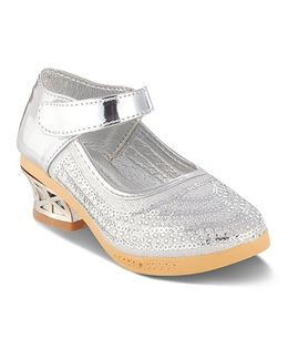 Kittens Studded Metallic Belly Shoes - Silver