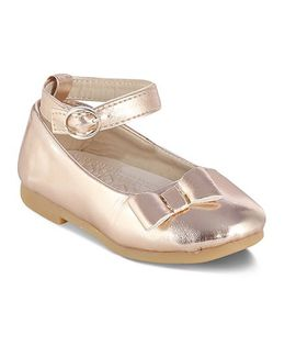 Kittens Mary Jane Belly Shoes With Bow Motif - Light Peach