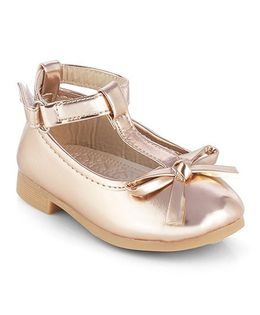 Kittens Mary Jane Belly Shoes With Bow Motif - Peach