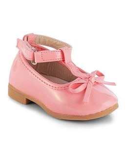 Kittens Mary Jane Belly Shoes With Bow Motif - Pink