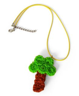 Soulfulsaai Crochet Charm Necklace Tree Design - Green & Brown