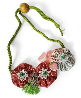 Soulfulsaai Floral Necklace - Pink Green