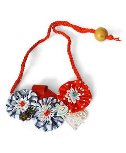 Soulfulsaai Floral Necklace - Red Blue