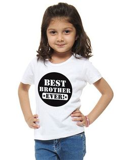 M'Andy Best Brother Ever Print Tee - White