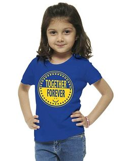 M'Andy Together Forever Print Tee - Blue