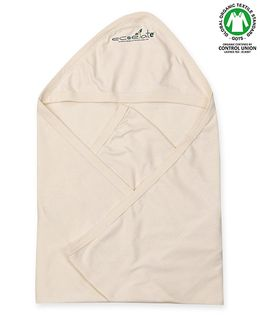 Ecoelate Authentic Organic Cotton Herbal Dyed Towel With Hood - Yellow