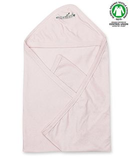 Ecoelate Authentic Organic Cotton Herbal Dyed Towel With Hood - Pink