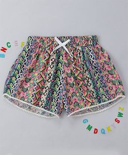 Holy Brats Multicolor Printed Shorts - Multicolor
