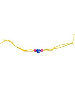 Thought Counts Beaded Heart Rakhi - Multicolor