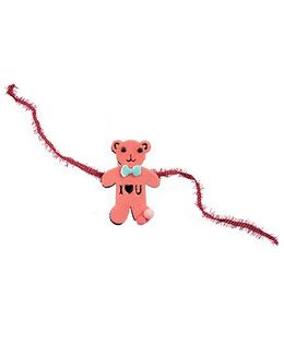 Thought Counts Cute Teddy Rakhi - Pinkish Peach