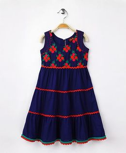 Twisha Fusion Tiered Dress - Royal Blue