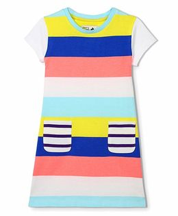Cherry Crumble California Hotchpotch Stripe Dress - Multicolor