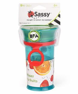 Sassy Fruit Infuser Cup With Strap Blue - 266 ml