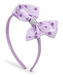 Flaunt Chic Pinwheel Bow Non Teethed Headband - Purple