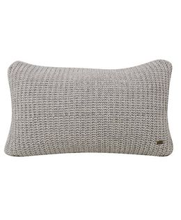 Pluchi  Knitted Solid Cushion - Light Grey