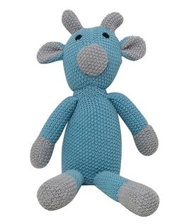 Pluchi  Toby Design Toy - Blue & Light Grey