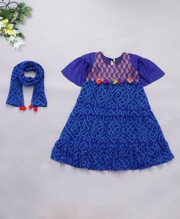 Alpnakids Bandhini Tunic Dress - Electric Blue