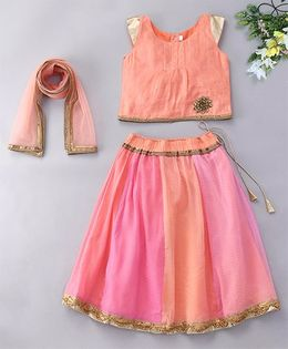 Alpnakids Pretty Georgette Lehnga Choli Set - Blush Pink