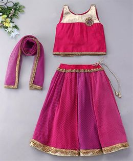 Alpnakids Sleeveless Georgette Lehnga Choli Set - Magenta