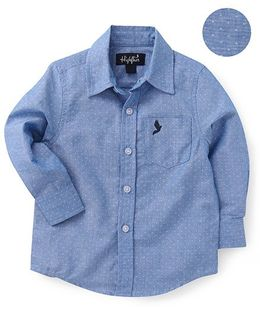 Highflier Full Sleeves Dotted Shirt - Blue