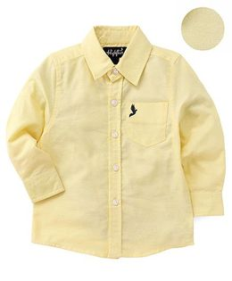 Highflier Full Sleeves Collared Shirt - Yellow