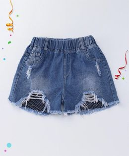 Party Princess Rugged Denim Shorts - Navy Blue