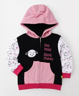 Tiny Bee Hooded Jacket - Black