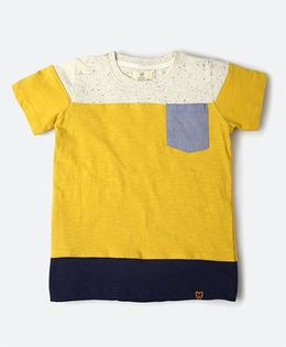 MilkTeeth Grouper Tee With A Front Pocket - Mustard