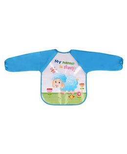 Little Hip Boutique Full Sleeves Waterproof Bib - Blue