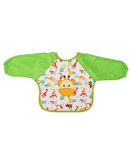 Little Hip Boutique Jungle Full Sleeves Waterproof Bib - Green