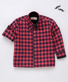 Knotty Kids Checked Shirt - Blue And Pink