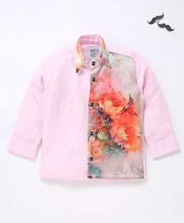 Knotty Kids Designer Patterened Shirt - Pink