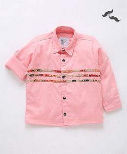 Knotty Kids Horizontal Patterned Shirt - Pink