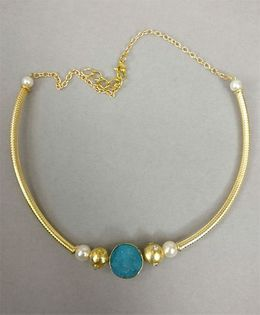 Tiny Closet Stone Necklace - Aqua Blue